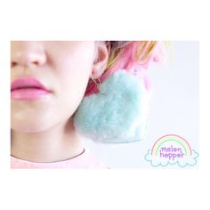"""An outfit is ✨simply✨ not complete without fluffy Melonhopper earrings!!  ☁️ {We can't believe how light-weight and effortless they are!} {Shipping in…"""