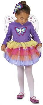 PartyBell.com - Neon Purple Butterfly Toddler Costume
