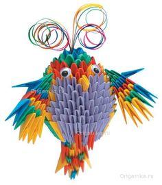 Модульное оригами попугай 3d Origami Tutorial, Origami 3d, Origami Videos, Modular Origami, Paper Oragami, 3d Paper, Paper Crafts, Quilling Art, Kirigami