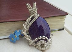 Wire wrapped pendant  Poppy agate pendant   Wire by EmmaWyattArt, £27.00