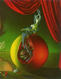 """Portret pani V P,"" Rudolf Hausner Vienna School Of Fantastic Realism, Modern Surrealism, Mural Painting, Paintings, Outsider Art, Fantastic Art, Art Club, New Artists, Art Techniques"