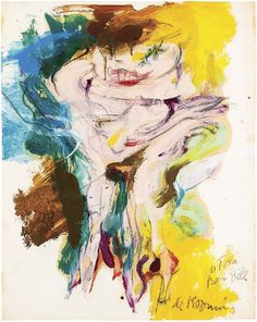 Willem de Kooning, Untitled (Woman). 1965. Oil on paper artworks from around the world; from