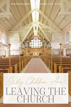 Children are leaving the church in droves. Why that is and what you can do to reduce the chances of your child not returning to church when they leave home.  #raisingdiscples #kidsleavingchurch #whyourchildrenareleavingthechurch #childrenleavingthefaith #teensleavingchurch #Christianparenting #womanofnoblecharacter