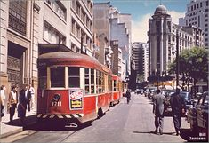 Sao Paulo in the & 2015 Bonde, Latin America, Public Transport, My Town, Vintage Photos, The Past, Street View, Train, History