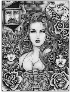 """I am a big fan of tattoos and the artwork especially a style known as """"Chicano"""" because of the black and grey realism, how it uses inspiration from the chicano culture."""