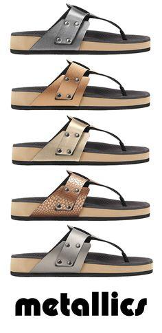 Where new school meets old school.  Men's t-strap sandals!