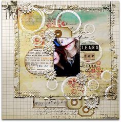 Tears for fears mixed media by @Malin Lindmark Lindmark Lindmark Andersson Comstad of madebymija.blogspot.com  Wendy Schultz onto Scrapbook Art.