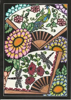 Erin Wormuth (18+ division) from Japanese Stencil Designs Stained Glass Coloring Book: http://store.doverpublications.com/0486485048.html