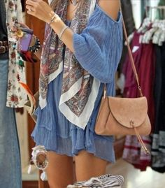 Love the causal boho dress