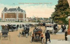 Postcard: Belleville and Menzies Sts. Victoria Bc Canada, Vancouver Island, History Facts, Historical Photos, Great Britain, British Columbia, Hotel Victoria, Emily Carr, Street