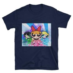 Powerpuff Girls Short-Sleeve Unisex T-Shirt This makes for a great staple t-shirt. It's made of a thicker, heavier cotton, but it's still soft. And the double s Nerdy Shirts, Double S, Powerpuff Girls, Short Girls, Unisex, Sleeve, Awesome, Cotton, Mens Tops