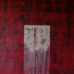 Parole sommerse. Tecnica mista su tela applicata su tavola, cm. 120x120