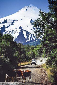 Volcán Villarrica, Parque Nacional Villarica en la región de Los Lagos. Chile