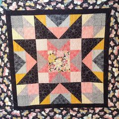 Taking a short break from #tshirtquilts and doing some #longarmquilting. I love the colors and fabrics of this quilt!