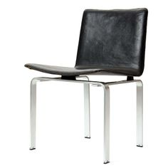 Jørgen Høj; Steel and Leather Chair for Johannes Hansen, 1962.