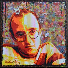 Portrait of Keith Haring by Argadol www.argadol.fr