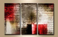 TE_023 / Cuadro Pergamino abstracto