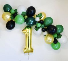 Wild One Balloon Garland Wild One Wild One Theme Green Gold