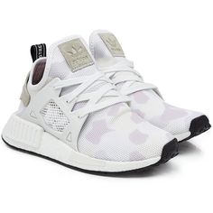 f4e6446d912e Adidas Originals NMD XR1 Sneakers (£170) ❤ liked on Polyvore featuring shoes,  sneakers, white, lilac shoes, multi color sneakers, multicolor sneakers, ...