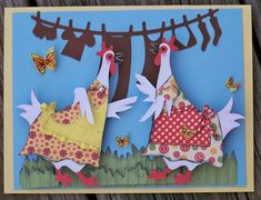 Chatty Chickens using Noah's ABCs and handcut dresses/aprons.  Crafty how-tos are on the blog!