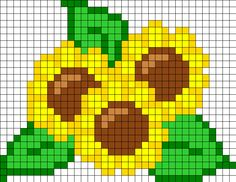 Sunflowers. Use Chart for Pincushion. No Color Key.