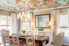 mustertapeten deckengestaltung zimmerdecken wohnideen wandfarben