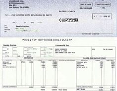 Free Printable Blank Paycheck Stubs | Here's an example of the ...