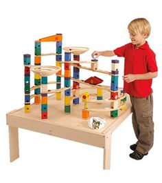 wooden marble run! our 3yo LOVES the plastic version of this toy.  $220