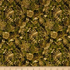 A New Leaf Layered Leaves Forest from @fabricdotcom  Designed by Mitzi Powers for Benartex, this cotton print is perfect for quilting, apparel and home decor accents.  Colors include shades of green, shades of tan and cream.