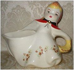 Hull Pottery Little Red Riding Hood Batter Pitcher-Fantastic find and very rare!