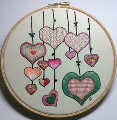 Doodle with a needle - Heart stitch sampler £25.00