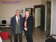 Sergio Polese, delegato degli Ingegneri al CUP con Marina Calderone.
