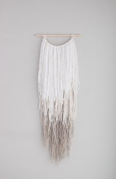 Ombre wall hanging | yarn wall hanging | long wall hanging | boho decor by Thoseindiemommies on Etsy https://www.etsy.com/listing/494614094/ombre-wall-hanging-yarn-wall-hanging