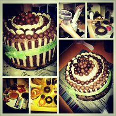Birthday cake for my boyfriend. ...thanks cuz for helping