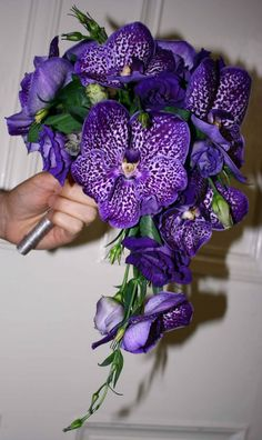 Vanda orchid bouquet for the girls, fuller and mix with other purples/colors