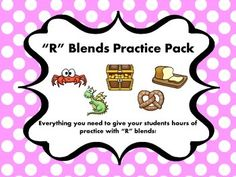 This pack includes 25 pages of practice with R-blends. There are worksheets, task cards, and a sorting game. Everything is designed to get your students to recognize and use the blends while reading and writing. It will work great for independent practice or small groups.