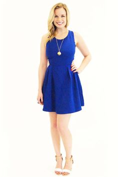 Backless Scallop Detail Dress