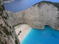 Welcome to Navagio Beach aka Shipwreck Cove on Zakynthos Island, Greece. One of the most beautiful places on the planet. Welcome to Navagio Beach aka Shipwreck Cove on Zakynthos Island, Gre Most Beautiful Beaches, Beautiful Places In The World, Oh The Places You'll Go, Places To Travel, Travel Destinations, Places To Visit, Amazing Places, Dream Vacations, Vacation Spots