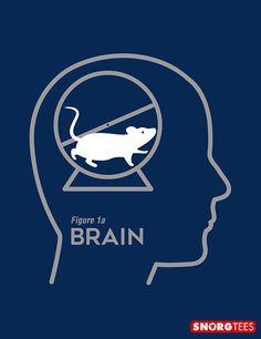 """Mouse Wheel Brain"" t-shirt"