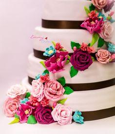 flowerr wedding cake
