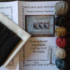 Punch Needle Kit Crows on Parade Weavers by TeresasPrimTreasures