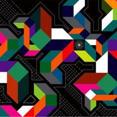 Matt W. Moore est le fondateur de MWM Graphics, un studio de design et d'illustration.  Son style est vraiment étonnant & remarquable.  Ses illustrations digitales  « Vectorfunky » explosent de couleurs vives, de géométries, et de fraicheur !