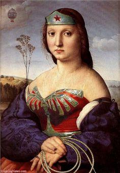 If Wonder Woman was a Renaissance woman.