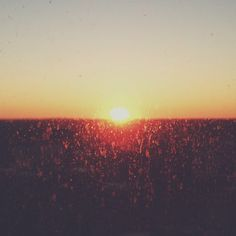 dirty glass sunset