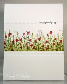 Stamping Styles: One Layer Card