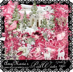 Pink Winter NO TUBE INSIDE KIT [AM_PinkWinterNOTUBE.zip] - $1.00 : AmyMaries Kits