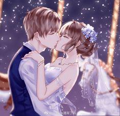 Rwwrite the stars Couple Anime Manga, Anime Couple Kiss, Anime Cupples, Romantic Anime Couples, Anime Couples Drawings, Anime Kiss, Anime Couples Manga, Anime Maid, Anime Couple Romantique