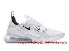 pretty nice 9efb8 44b0c Nike Air Max 270 Chaussures Nike Basket Pas Cher Pour Homme Blanc Noir  AH8050-100