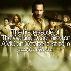 The First Season of The Walking Dead, an American horror–drama television series on AMC, premiered on October 31, 2010, and concluded on December 5, 2010, consisting of six episodes.
