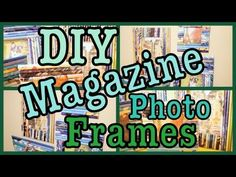 DIY photo frames from magazines and cereal boxes